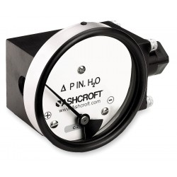 Ashcroft - 351132FD25SXCYLM25IWD - 1/4 FNPT and MNPT Differential Pressure Gauge with 4-1/2 Dial, 0 to 25 In. H2O, Aluminum