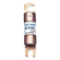 Mersen - ACK60 - Ferraz ACK60 Fuse , Fork Lift Truck, Battery Isolator, 60A, 125V AC/DC, 10kAIC