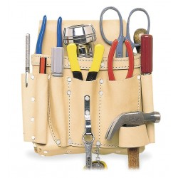 CLC (Custom Leather Craft) - 521 - Tan Electricians Tool Pouch, Top Grain Leather, Fits Belts Up To (In.): 2-3/4