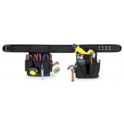 CLC (Custom Leather Craft) - 5609 - CLC 3 Piece Electrician's Combo Tool Belt - 46 Length - Ballistic Poly Fabric