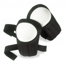 CLC (Custom Leather Craft) - V230 - Swivel 2-Strap Knee Pads, Black/White