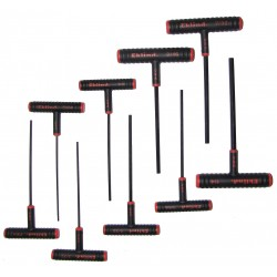 Eklind Tool - 60609 - Long T-Shaped Ergonomic SAE Black Oxide Hex Key Set, Number of Pieces: 9