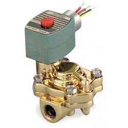 Red Hat - 8221G005HW - Hot Water Solenoid Valve, 2-Way/2-Position Valve Design, Normally Closed Valve Configuration