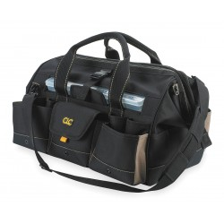 CLC (Custom Leather Craft) - 1535 - 18 Tool Bag with 37 Pockets & Plastic Parts Box