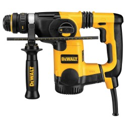 Dewalt - D25324K - DeWALT 8 A 1150 RPM Corded L-Shape SDS Rotary Hammer Kit With 1' Chuck And Quick Change Chuck (Includes 360 Side Handle, Depth Rod And Kit box), ( Each )