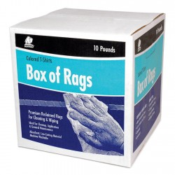 Buffalo Industries - 10083 - Assorted Recycled Cotton T-shirt Cloth Rag, 10 lb. Box, 1EA