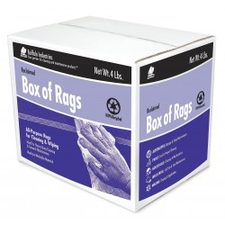 Buffalo Industries - 10180 - Assorted Recycled Cotton Cloth Rag, 4 lb. Box, 1EA