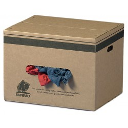 Buffalo Industries - 10185 - Assorted Recycled Cotton Cloth Rag, 50 lb. Box, 1EA