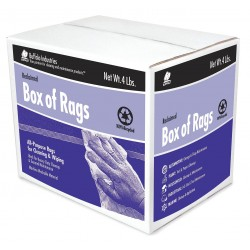 Buffalo Industries - 10580 - Assorted Recycled Cotton Towels Cloth Rag, 4 lb. Box, 1EA