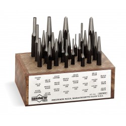 "Mayhew Tools - 80040 - 8"" Alloy Steel Combination Punch Set&#x3b; Number of Pieces: 24"