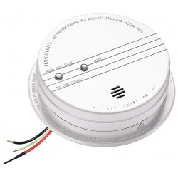 Kidde Fire and Safety - P12040 - 5-5/8 Smoke Alarm with 85dB @ 10 ft., Horn Audible Alert; 120VAC, 9V