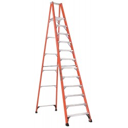 "Louisville Ladder - FP1412HD - Fiberglass Platform Stepladder, 13 ft. 5"" Ladder Height, 11 ft. 5"" Platform Height, 375 lb."