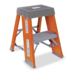 "Louisville Ladder - FY8003 - Fiberglass Step Stool, 36"" Overall Height, 300 lb. Load Capacity, Number of Steps 3"