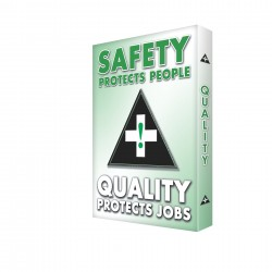 Accuform Signs - EDP216 - Safety Sign, 24 x 18In, GRN and BK/WHT, AL