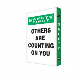 Accuform Signs - EDP224 - Caution Sign, 24 x 18In, BK and GRN/WHT, AL