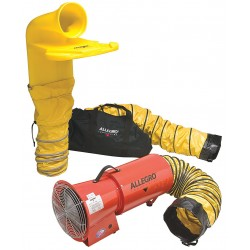 Allegro - 9520-06M - Axial Confined Space Fan Kit, 1/4 HP, 12VDC Voltage, 4200 rpm Blower/Fan Speed