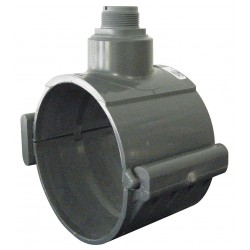 GF Piping Systems - PV8S040 - 4 Two Piece PVC Clamp On Saddles; Nominal Run Pipe Size: