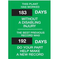 Brady Safety Record Signs