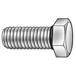 APM Hexseal - CCMCZZZZOAAZZ - 18-8 (304) Hex Head Cap Screw 3/8-16, 2-1/2 Fastener Length, Plain Fastener Finish