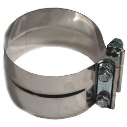 Five Star Clamps - 300400 - Band Clamp 304 Stainless Steel Exhaust Clamp For Pipe Size 4; PK1