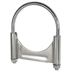 Five Star Clamps - 510400 - Guillotine U-Bolt Steel Exhaust Clamp For Pipe Size 4; PK1