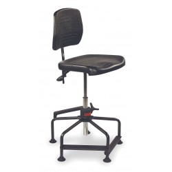 Lyon Workspace NF2025N Industrial Chair Standard Black 17 To 35 In H Pol