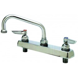 T&S Brass - B-1120 - Brass Kitchen Faucet, Manual Faucet Operation, Number of Handles: 2