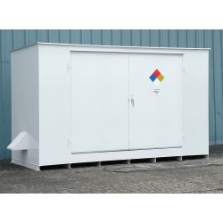 Denios - N05-3035 - 193 x 70 x 98 Steel Storage Building with No Fire Rating, White