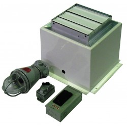 Denios - N05-7270 - Interior Light with Ventilation System, For Use With Denios N-Series Storage Buildings