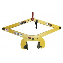 The Caldwell Group - 71-3 - Slab Tong, Polyurethane, 1500 lb., Load Width 10 to 14, Headroom 28.6 to 41.2