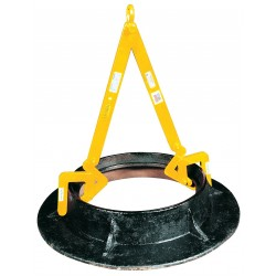 The Caldwell Group - MCL - 1/2 - Manhole Sleeve Lifter, 1000 lb., 12 to 30, Clamp Range 0 to 2-7/8, Headroom 36-5/8