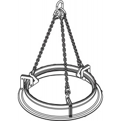 The Caldwell Group - MCL - 3/4 - Manhole Sleeve Lifter, 1500 lb., 13 to 30, Clamp Range 0 to 2-7/8, Headroom 36-5/8