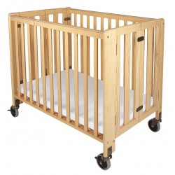 Foundations - 1031042 - 39 x 26 x 38-3/4 Solid Wood HideAway Crib, Natural