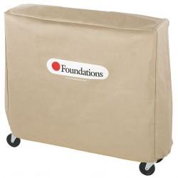 Foundations - 4012156 - Nylon Full Size Crib Cover, Tan; PK1