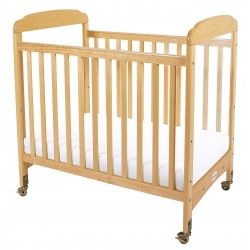 Foundations - 1732040 - 39 x 26-1/4 x 43 Solid Wood Compact Crib, Natural