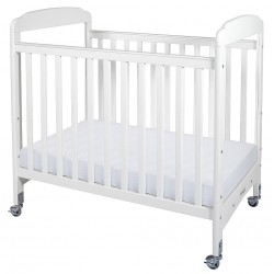 Foundations - 1732120 - 39 x 26-1/4 x 43 Solid Wood Compact Crib, White