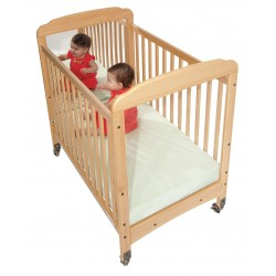 Foundations - 1733040 - 39 x 26-1/4 x 43 Solid Wood Compact Crib, Natural