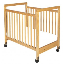Foundations - 1632040 - 39 x 26-1/4 x 38-3/4 Solid Wood Compact Size Crib, Natural