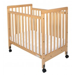 Foundations - 1631040 - 39 x 26-1/4 x 38-3/4 Solid Wood Compact Size Crib, Natural