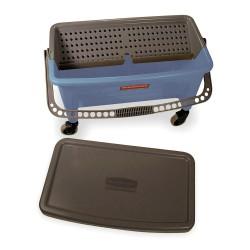 Rubbermaid - FGQ93000BLUE - Blue Polypropylene Mop Bucket and Wringer, 28 qt.