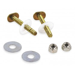 Oatey - 5PA62 - Brass Toilet to Floor or Toilet Flange Bolt Set, Brass, For Use With Most Toilets