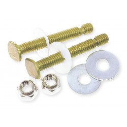 Oatey - 5PA63 - Brass Toilet to Floor or Toilet Flange Bolt Set, Brass, For Use With Most Toilets