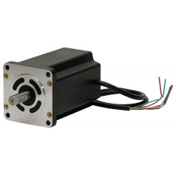 Autonics - A16K-M569 - 5 Phase, NEMA 24 / 60mm Frame Stepper Motor, Solid Motor Shaft Design, 1.4 Amps Per Phase