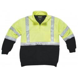 Utility Pro Wear - UPA542-XXL-BLKYLW - Hi-Viz Sweatshirt, Ylw/Blk, Polymide, 2XL