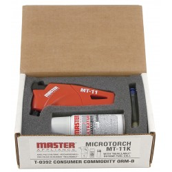 Master Appliance - MT-11K - Master Appliance MT-11K Microtorch Kit with Butane Canister, Up to 2500F, W Ind-Resistant Flame