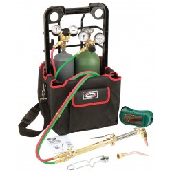 Harris - 4403211 - Harris Model 85601-200 Port-A-Torch Deluxe Heavy Duty Brazing, Welding And Cutting Outfit With 20 cu ft R Oxygen Cylinder And 10 cu ft MC Acetylene Cylinder, CGA-200, ( Each )