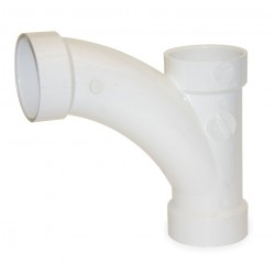 Mueller Industries - 05267 - PVC Wye and 45 Elbow, Hub, 6 x 6 x 4 Pipe Size - Pipe Fitting