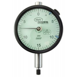 Mahr Federal - 2015786 - Balanced Reading Dial Indicator, AGD 2, 2.250 Dial Size, 0 to 0.075 Range
