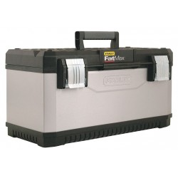 Stanley / Black & Decker - 026180R - Plastic, Steel Portable Tool Box, 12H x 26W x 12D, 3025 cu. in., Gray