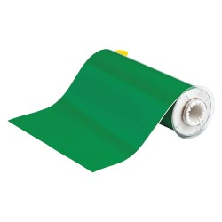 "Brady - 13612 - Brady 10"" X 50' Green 0.004"" B-595 Vinyl PowerMark Indoor/Outdoor Tape For Use With BBP85 and PowerMark Sign and Label Printer"